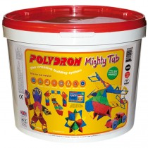 Polydron Mighty Tub (Age 5+) - 215 pieces for building 3-D models