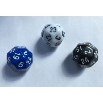 Deltoidal 24 Sided Dice - Set of 3 D24