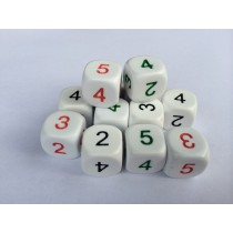 Average Dice - Set of 12 in 3 colours