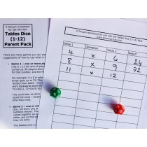 Multiplication Times Tables Dice Pack for Parents (up to 12 Times Tables)