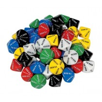 D10 Dice 10 Face 00000-90000 (Pack of 50)