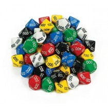 D10 Dice 10 Face 000-900 (Pack of 50)