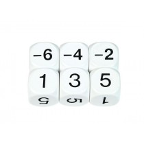 Negative Number Sum Dice: (Negatives are Even) 22mm (Set of 5)