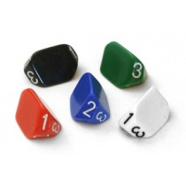 D3 three sided dice