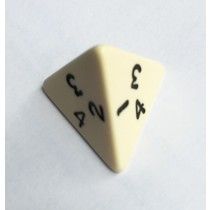 Single D4 4 sided die