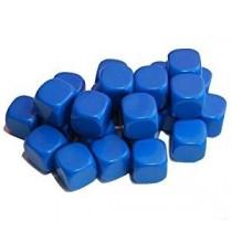 24 blank blue dice