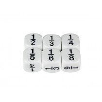 Basic Fractions Dice 16mm (Pack of 5)