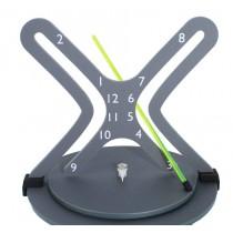Hyperbola Clock - Green Arm