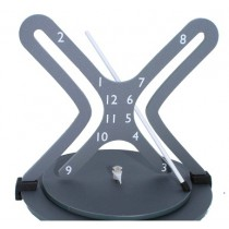 Hyperbola Clock - White Arm