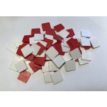 Red and White Square Tiles