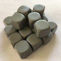 Silver 14mm blank dice