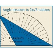 Radian Protractors - Pi/24