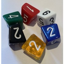 D6 Skew Dice - Numbers