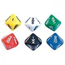 Fractions Dice - 10ths 16mm (Pack of 5)