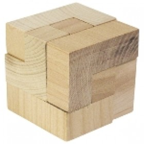 The Magic Cube Wooden Puzzle