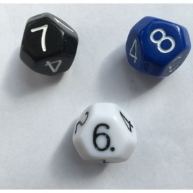 Truncated Octahedral 8 Sided Dice - Set of 3 D8
