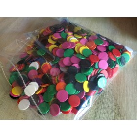 1000 16mm Coloured Counters 100 each of 10 colours
