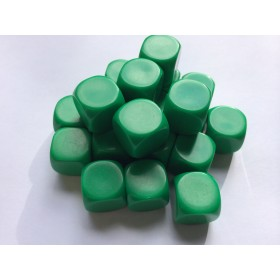 Blank Dice pack of 20 Re-writeable Green 16mm Dice