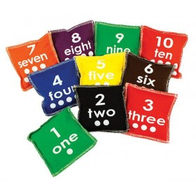 Bean Bags: Number, Dots and Words (Set of 10)