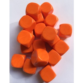 Blank Dice pack of 20 Re-writeable Orange