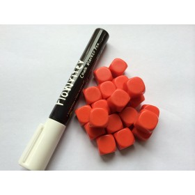 Blank Dice pack of 20 Re-writeable Red with White Marker Pen