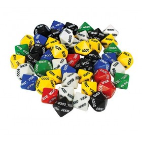 D10 Dice 10 Face 0000-9000 (Pack of 50)