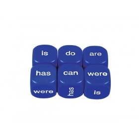 Literacy Dice: Helping Verbs Present 16mm (Pack of 5)