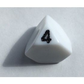 Truncated 4 Sided Die (Single D4 Die)