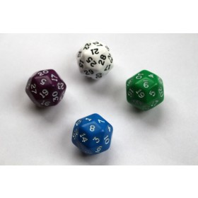 30 Sided Dice - Pack of 4 D30 - For Maths Games And Other Games