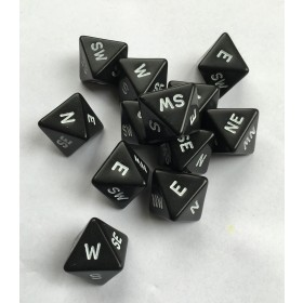 Compass Dice (Set of 12)
