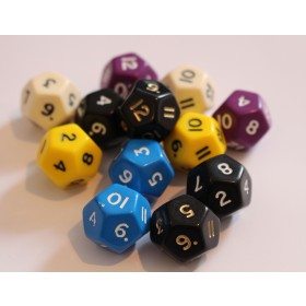 12 sided dice (pack of 12)