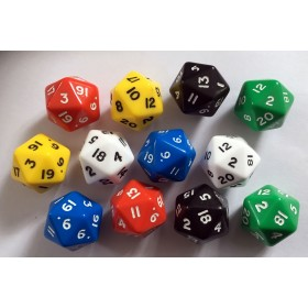 20 sided polyhedra dice (pack of 12)
