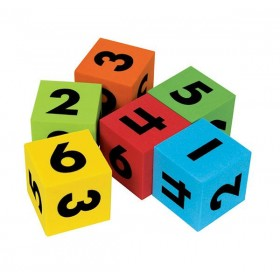 Dice 40mm 6 Face Number Foam (Pack of 5)