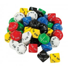 Decimal Dice - 10 Face 0.01 (pack of 10 D10)