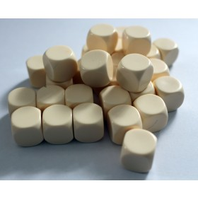 Blank Dice pack of 30 Re-writeable Ivory