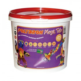Polydron Mega Tub (Age 5+) - 126 pieces for building 3-D models