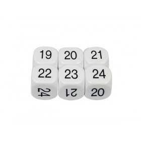 Dice D6: 19-24 16mm (Pack of 5)