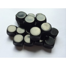 Blank Dice pack of 20 Re-writeable Black