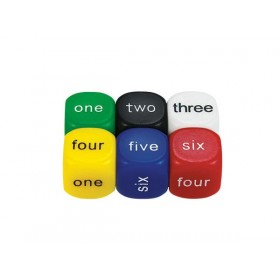 Number Word Dice (1-6) 16mm (Set of 6)