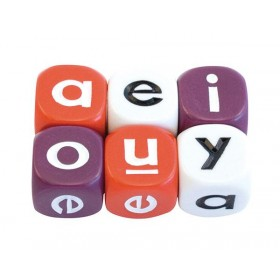Literacy Dice: Alphabet Dice - Vowel 16mm (Pack of 5)