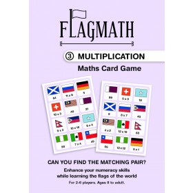 FlagMath - Multiplication: Mathematics Card Game