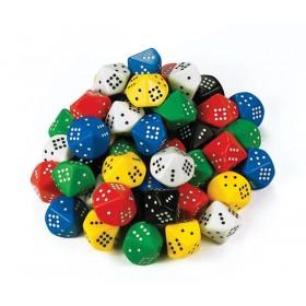 Jumbo D10 Dot Dice (Pack of 5)