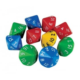 D16 Dice: 16 Face (Pack of 5)