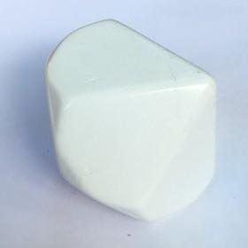 D10 Jumbo Blank White Die
