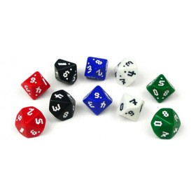 Optidice 0-9 Set of 5