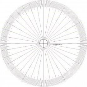 Tarquin Empty Protractors - Single Protractor