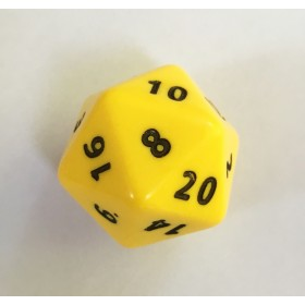 Jumbo 20 Sided Single 34mm Dice