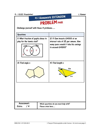 Revise for Success GCSE - Homework Problem