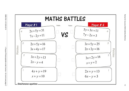 Revise for Success GCSE - Maths Battles