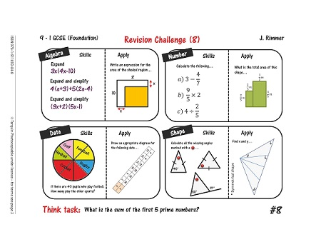 Revise for Success GCSE - Revision Place Mats